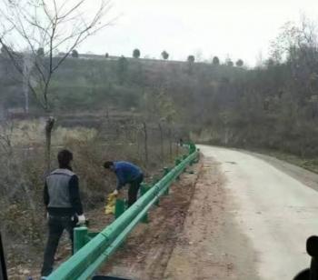 鄉村道路防撞護欄安裝